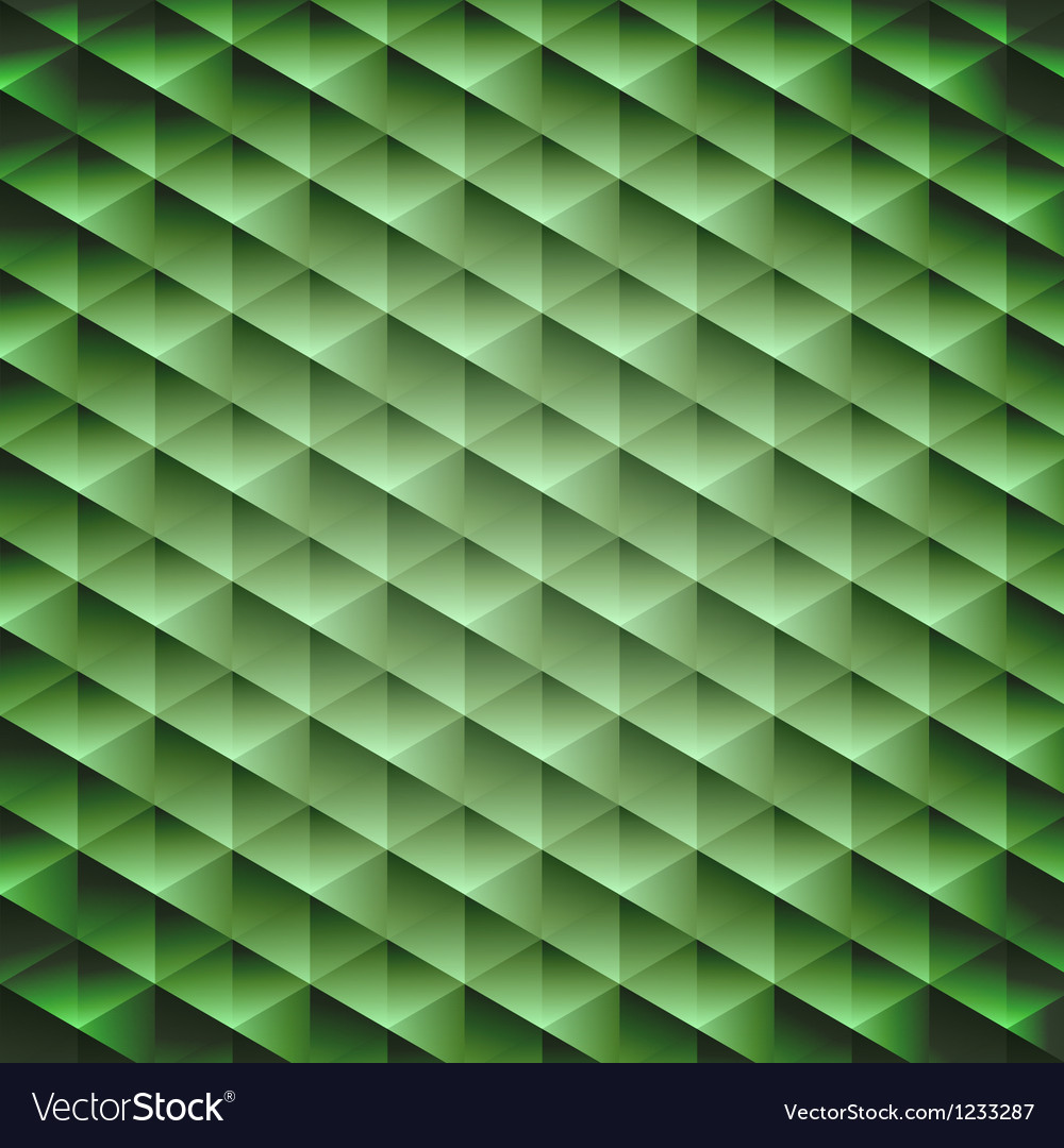 Green emerald geometric cubic background Vector Image 1000x1080