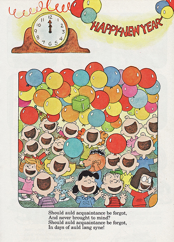 Charlie Brown Peanuts New Years Vintage Television Snoopy Happy New 360x500