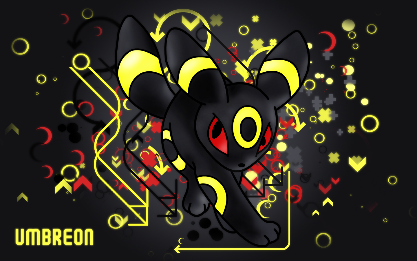 Umbreon Desktop Background by KirkButler 1440x900