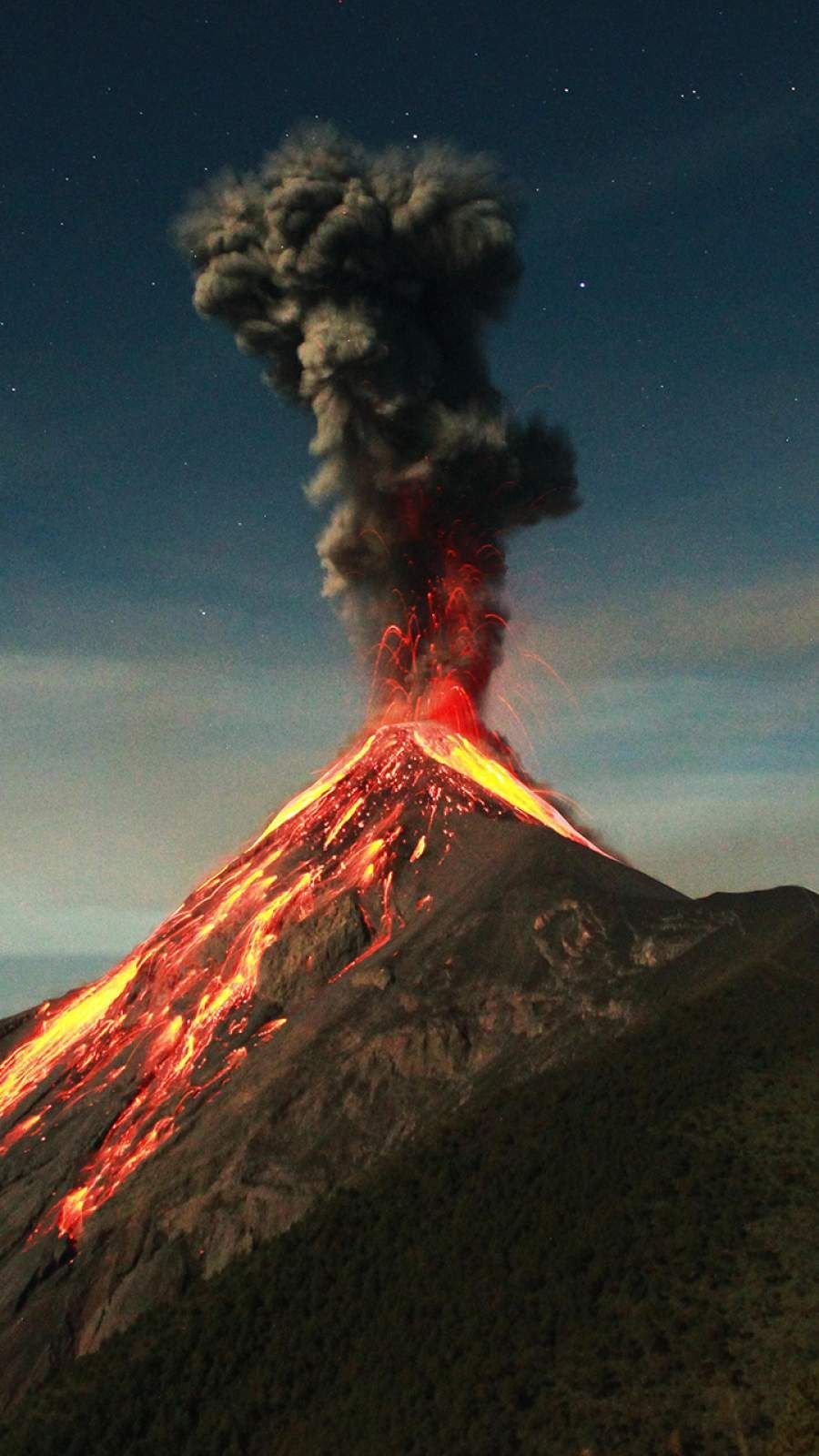 Guatemala Volcano Eruption IPhone Wallpaper Volcano wallpaper 900x1600