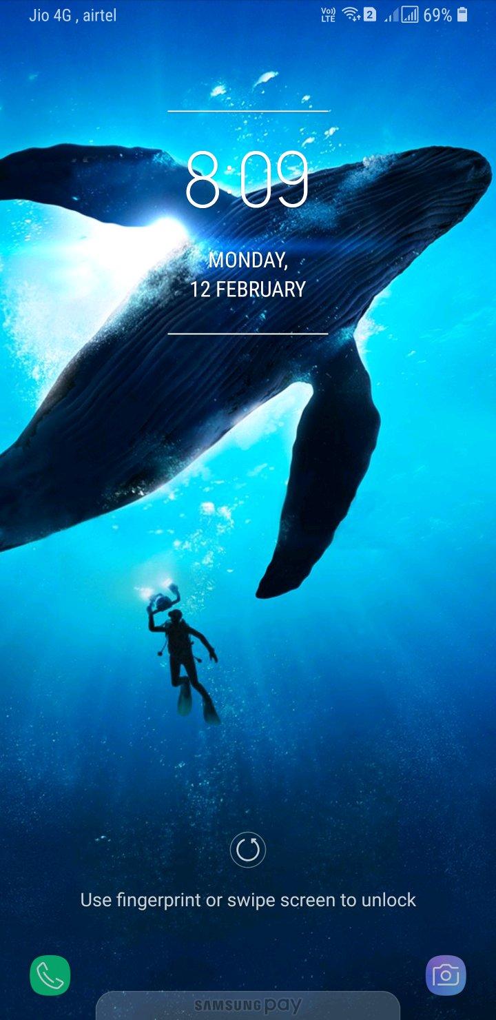 33 Samsung S8 Whale Wallpaper On Wallpapersafari