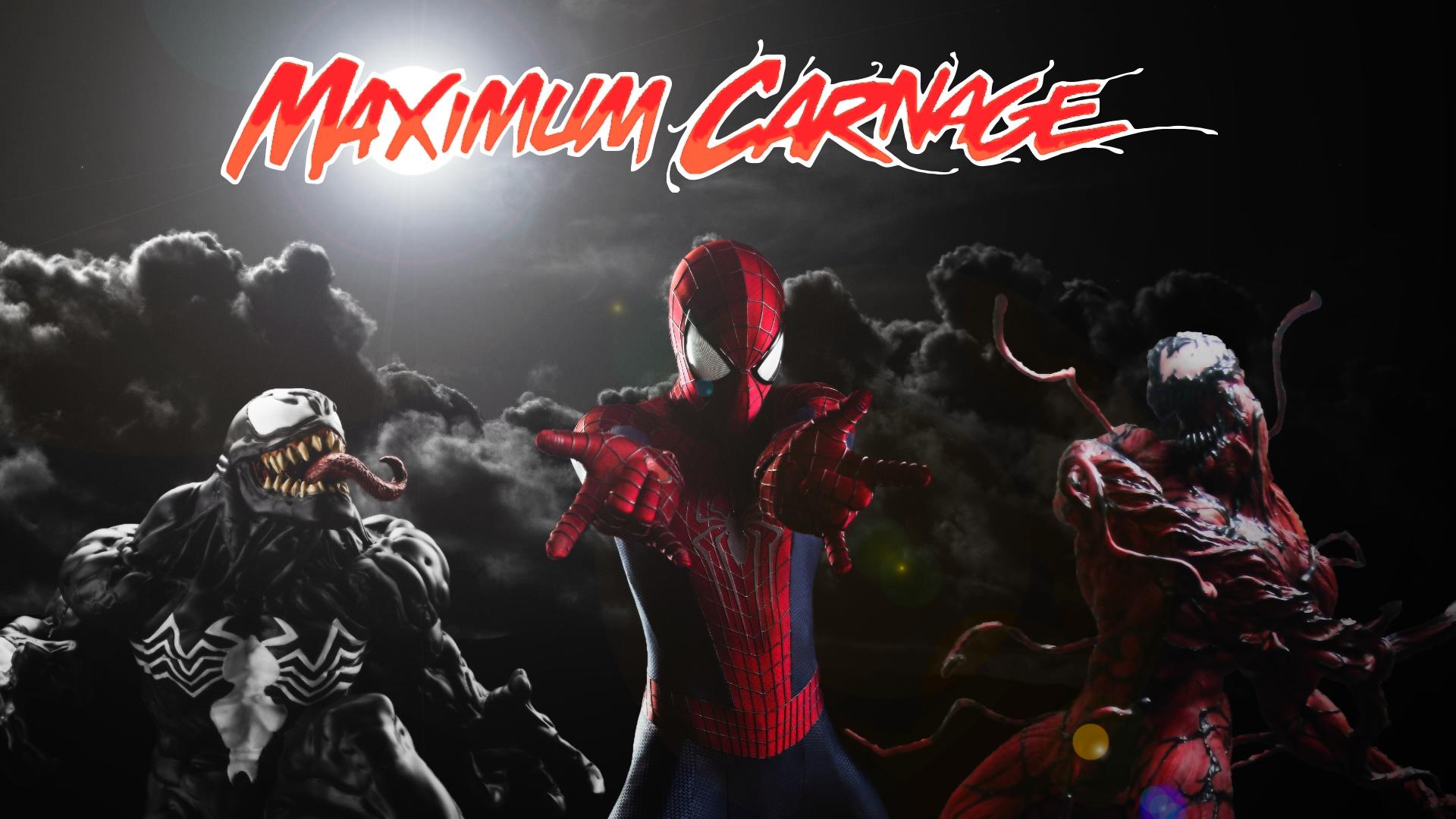 Spider Man and Venom Maximum Carnage Poster 1 by ProfessorAdagio on 1920x1080