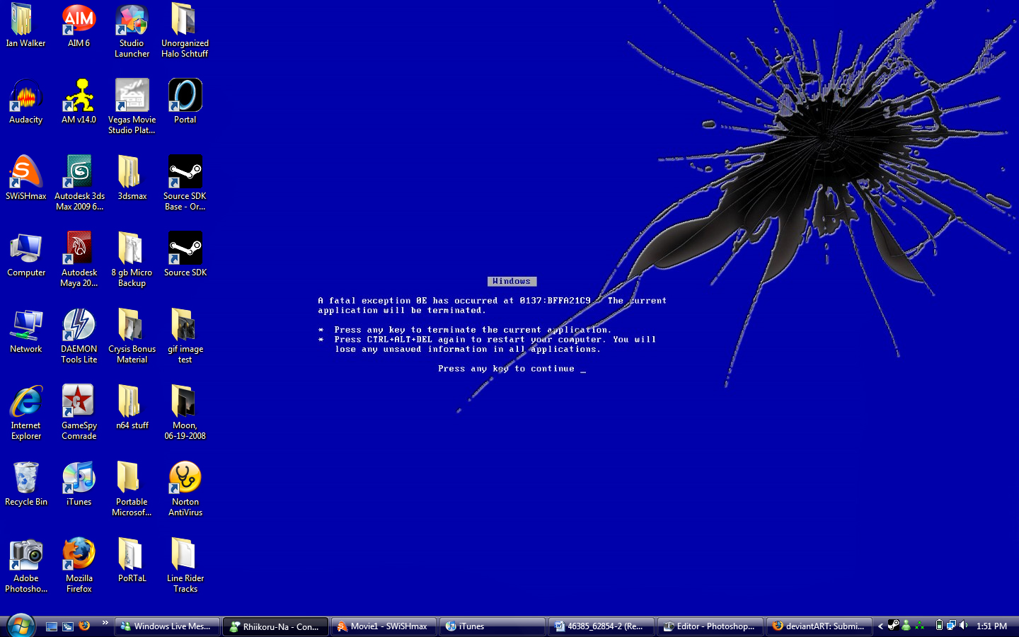 Blue Screen of Death Wallpaper by Neonomical65 1440x900