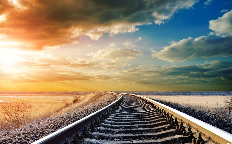 Railroad Tracks HD Wallpaper 2880x1800