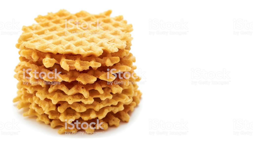 Homemade Crisp Waffle Isolated On White Background Copy Space 1024x576