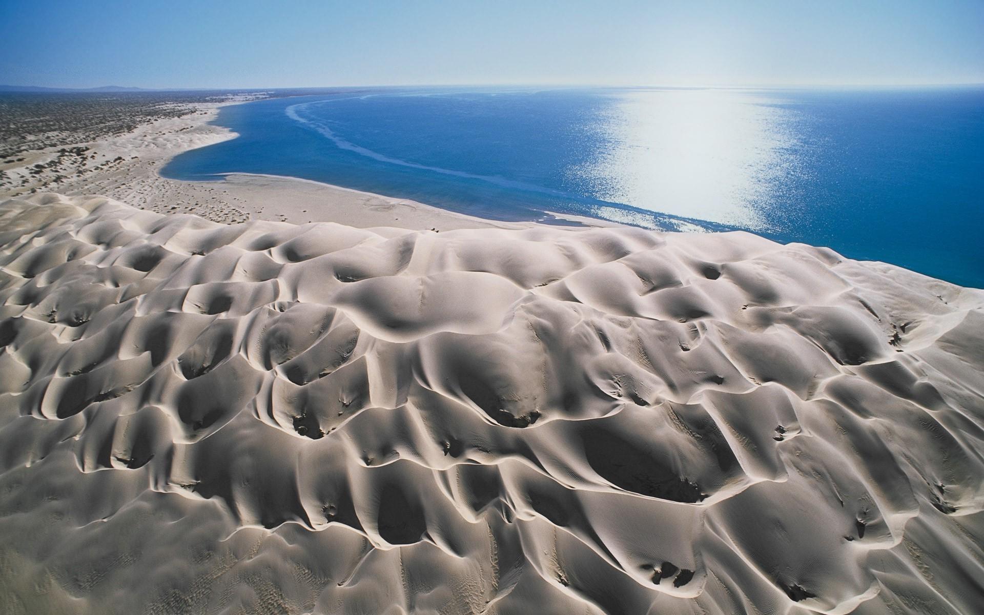 landscape Beach Nature Dune Sea Sand Baja California Wind 1920x1200