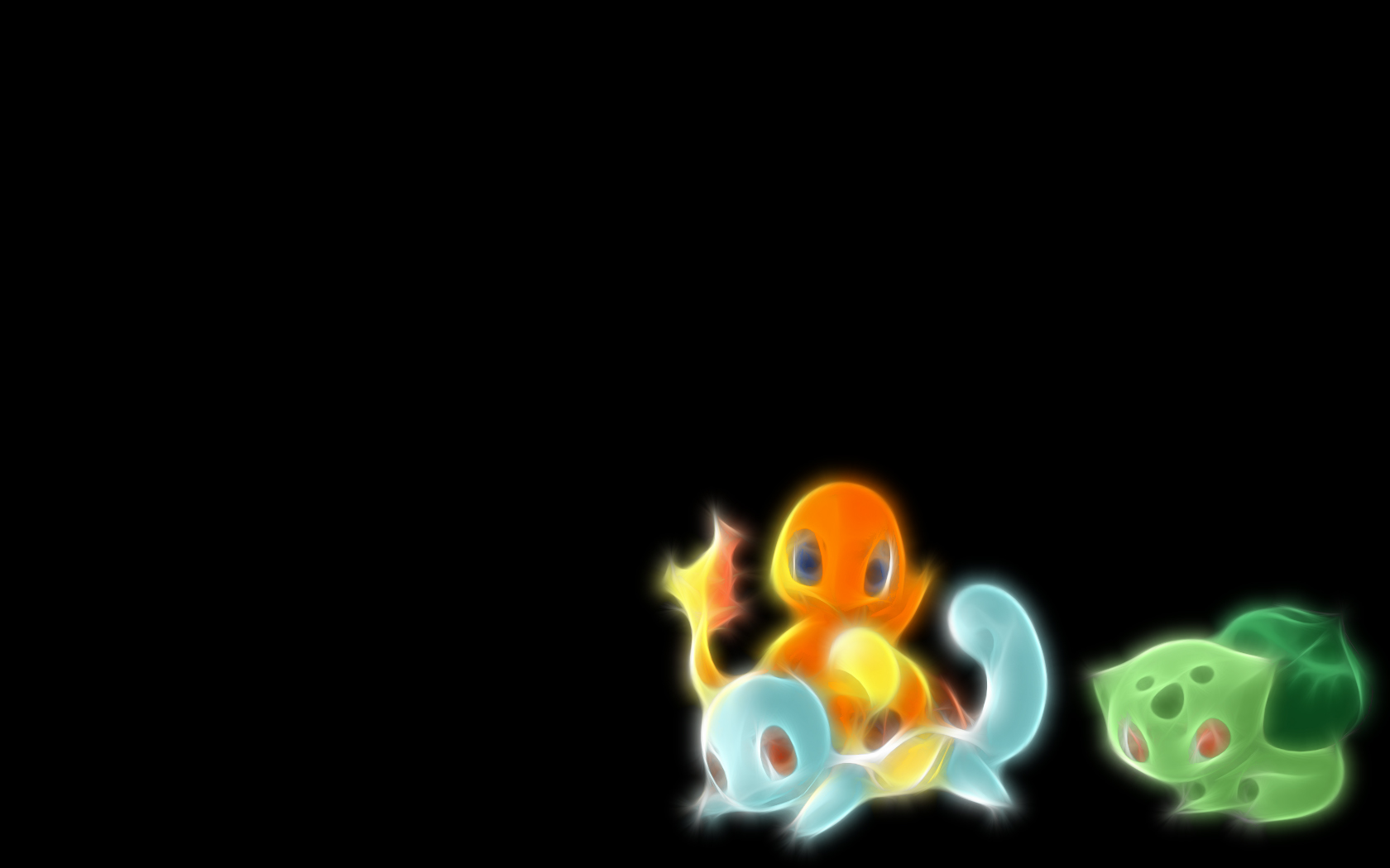 Bulbasaur Squirtle Simple Background Charmander Wallpaper 1680x1050