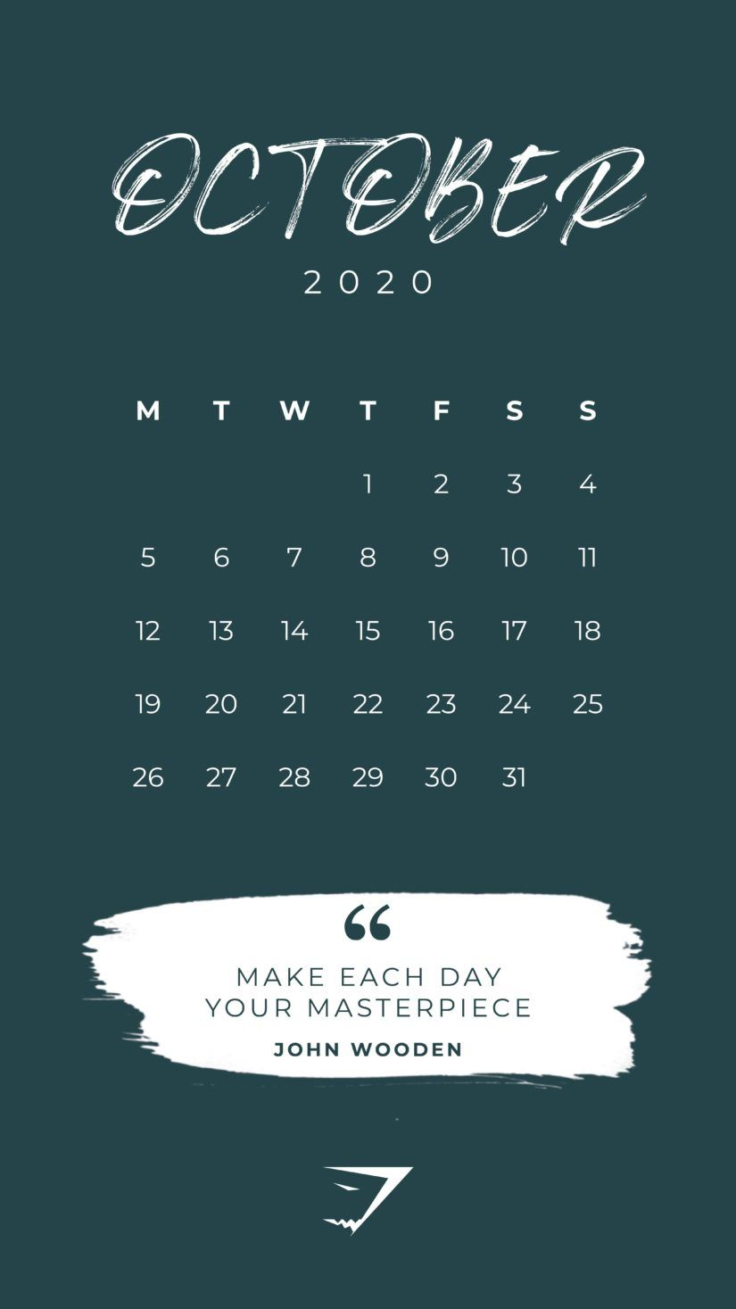 50 Printable October 2020 Calendars with Holidays 825x1467