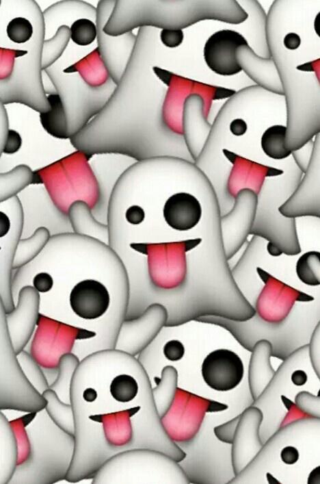 black cute emoji ghost red tumblr wallpaper white 468x707