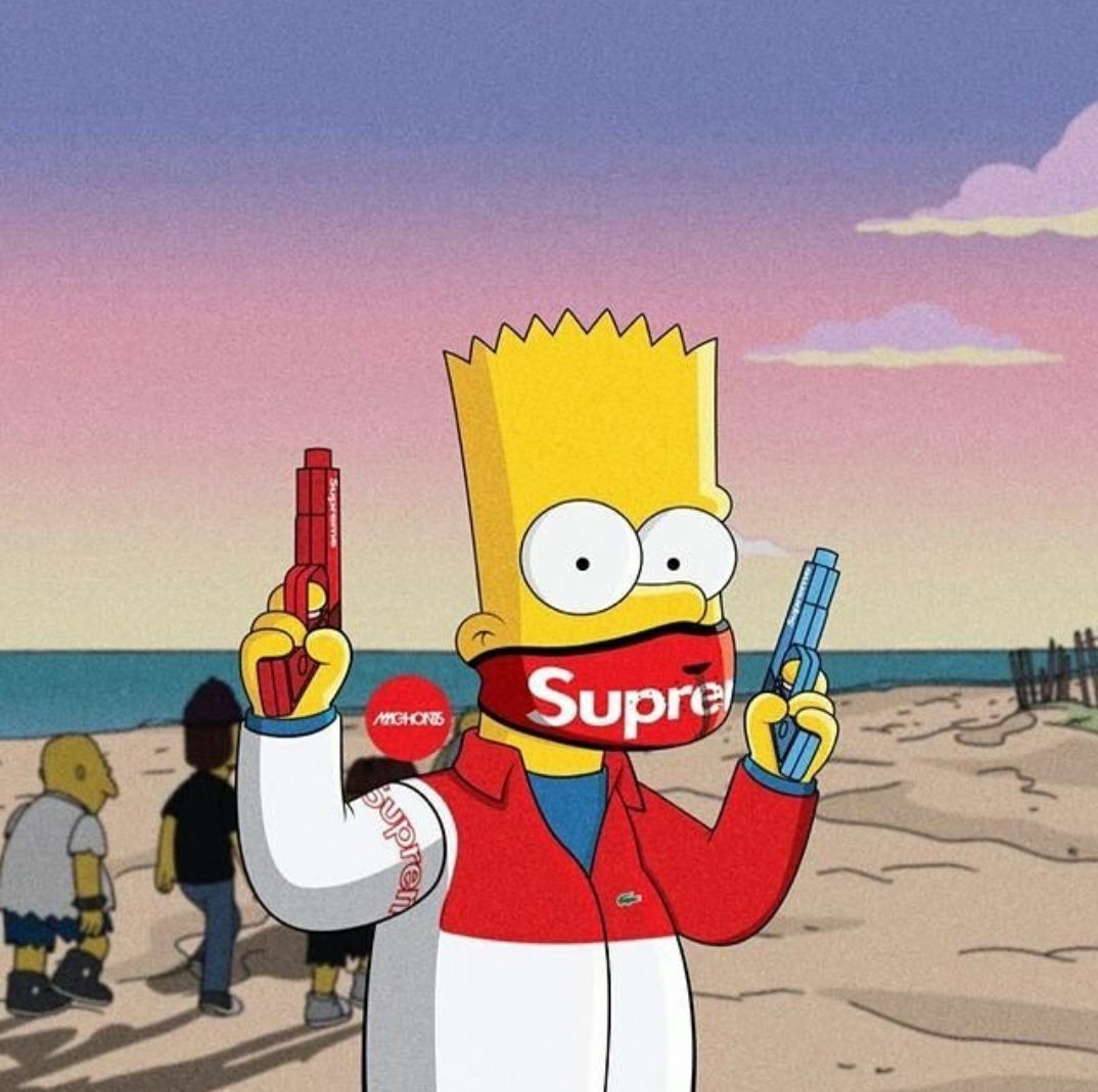65 BAPE Bart Simpson Wallpapers   Download at WallpaperBro 1074x1069