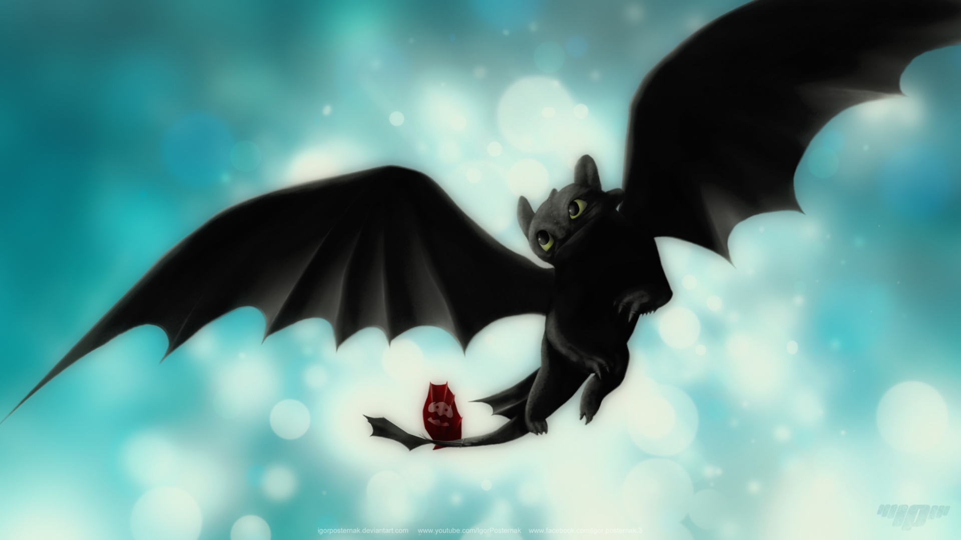 1920x1080 Night Fury \ Toothless desktop PC and Mac wallpaper 1920x1080