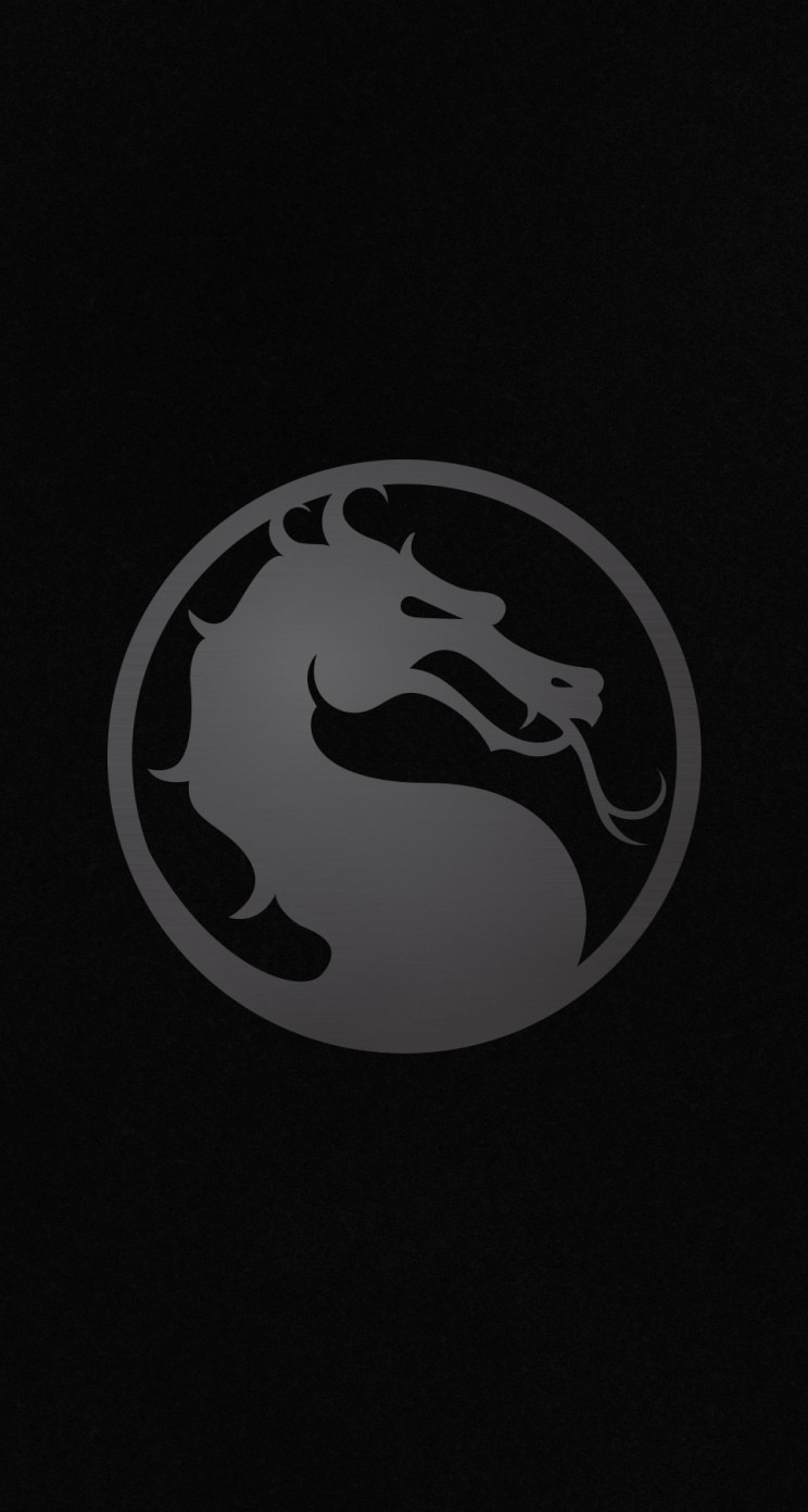 Download Mortal Kombat X Logo HD wallpaper for iPhone 5 5s 744x1392