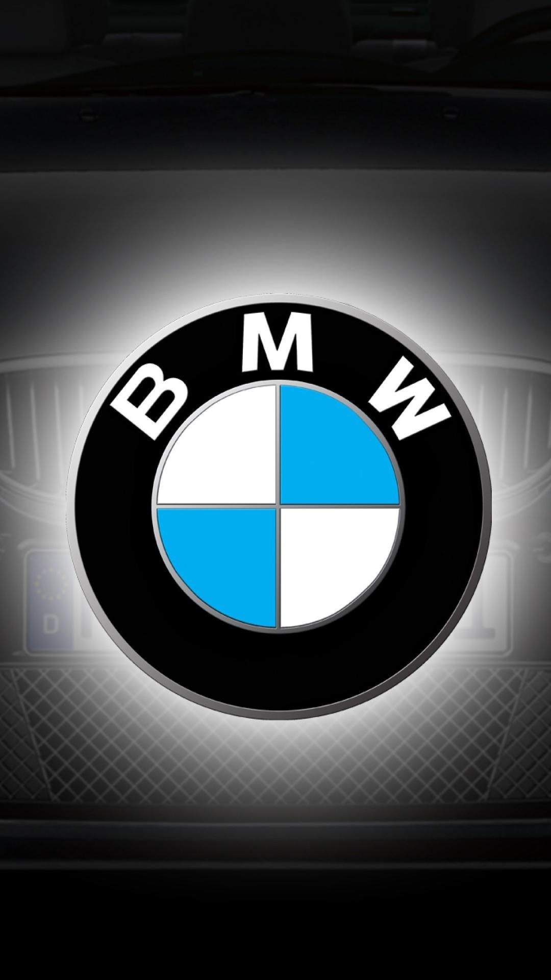 BMW Logo Grey Blue Car Android Wallpaper download 1080x1920