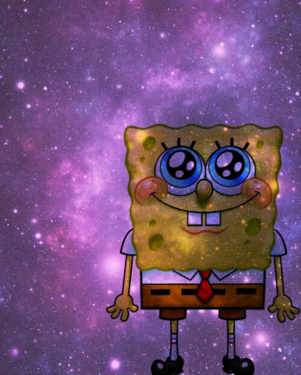 sponebob galaxy wallpaper   image 2187658 by LADYD on 610x761