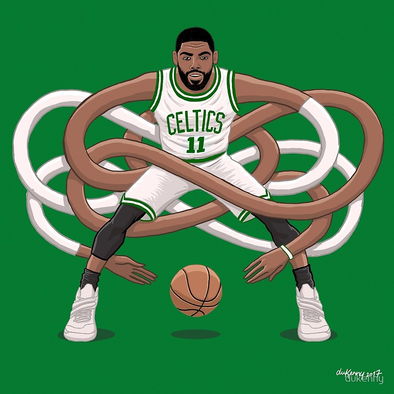 Free Download Gnarly Kyrie Celtics By Dukenny Redbubble