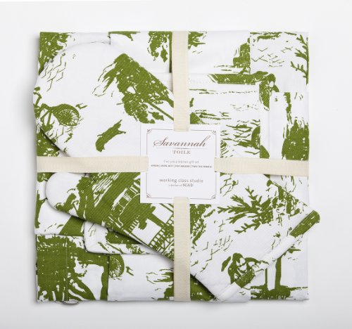 Working Class Studio The Savannah Toile Kitchen Collection Gift Set 500x468