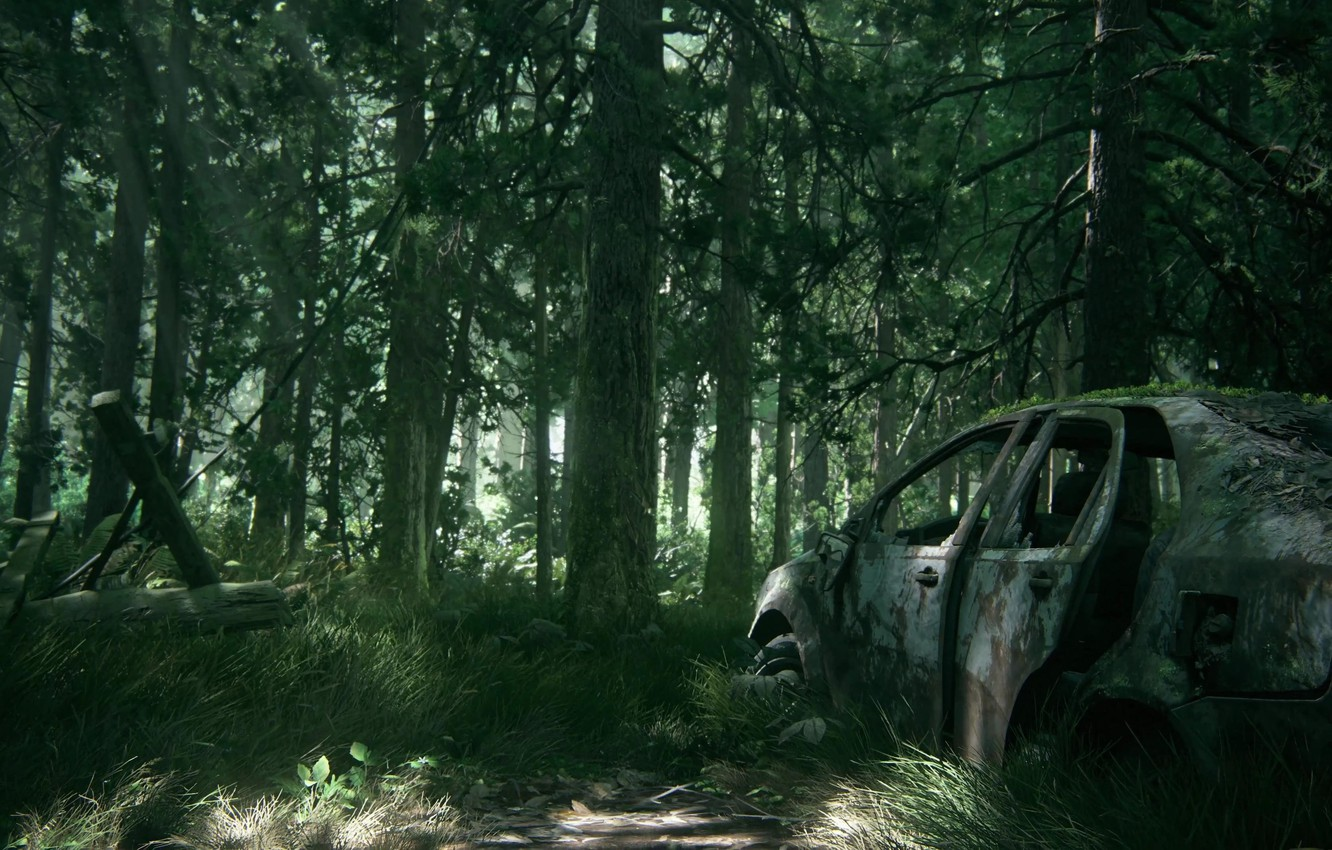Wallpaper car game tree The Last of Us vegetation The Last of 1332x850
