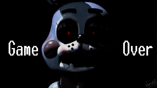 fnaf  toy bonnie   game over wallpaper by narawolves d8bgqn9png 512x286