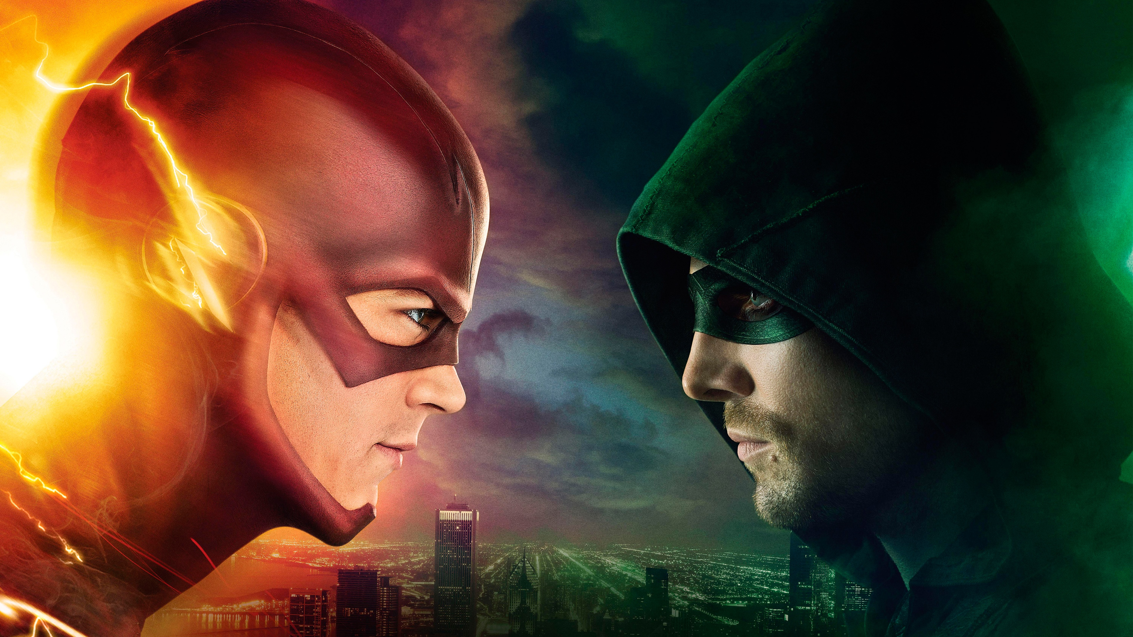 Flash vs Arrow Wallpapers HD Wallpapers 3840x2160