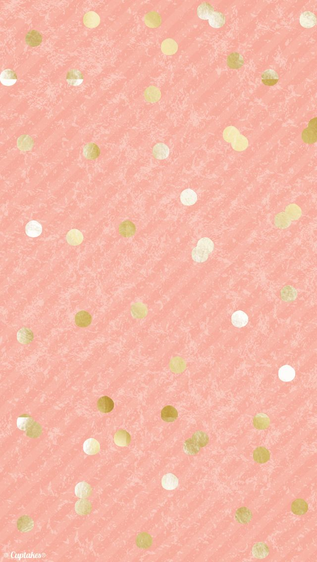 2nd backgrounds Pinterest Gold Confetti Wallpapers and Coral 640x1136