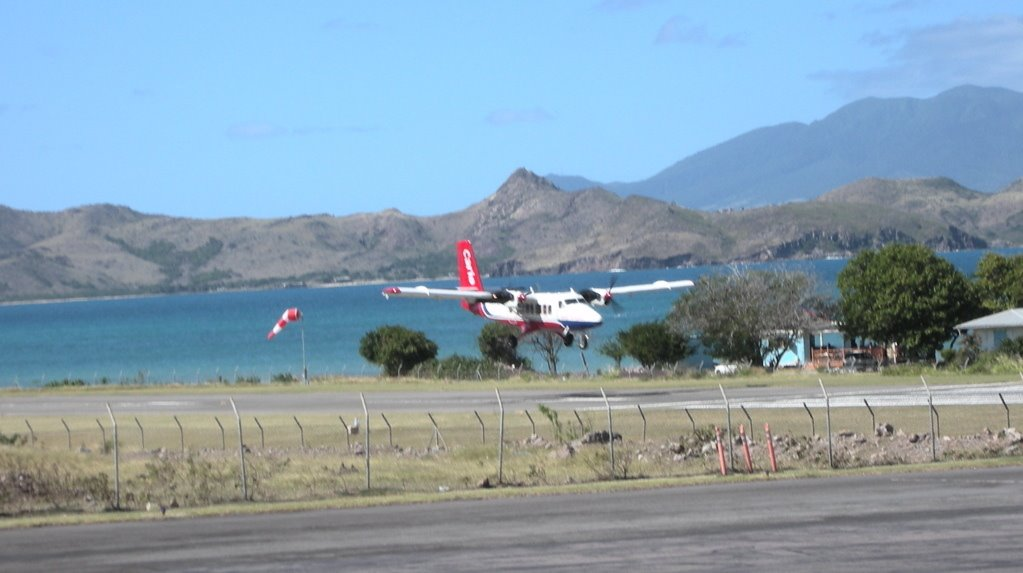Panoramio   Photo of Nevis Airport with St Kitts in background 1023x573