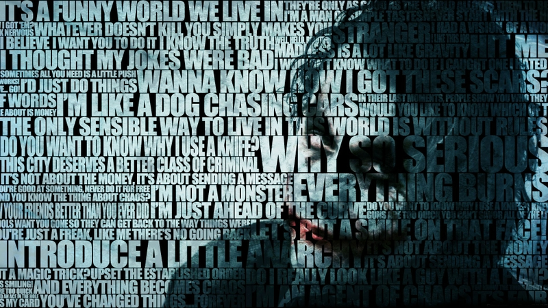 joker typography 1920x1080 wallpaper Batman Wallpaper Desktop 800x450