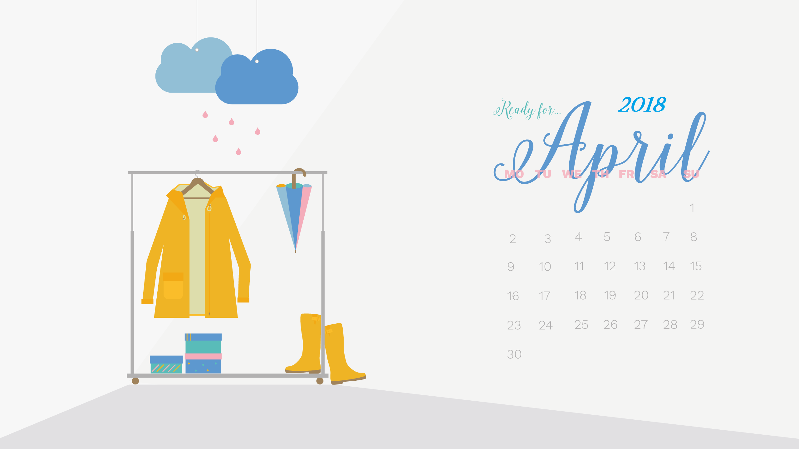 April 2018 HD Calendar Wallpapers Calendar 2018 Calendar 2560x1440