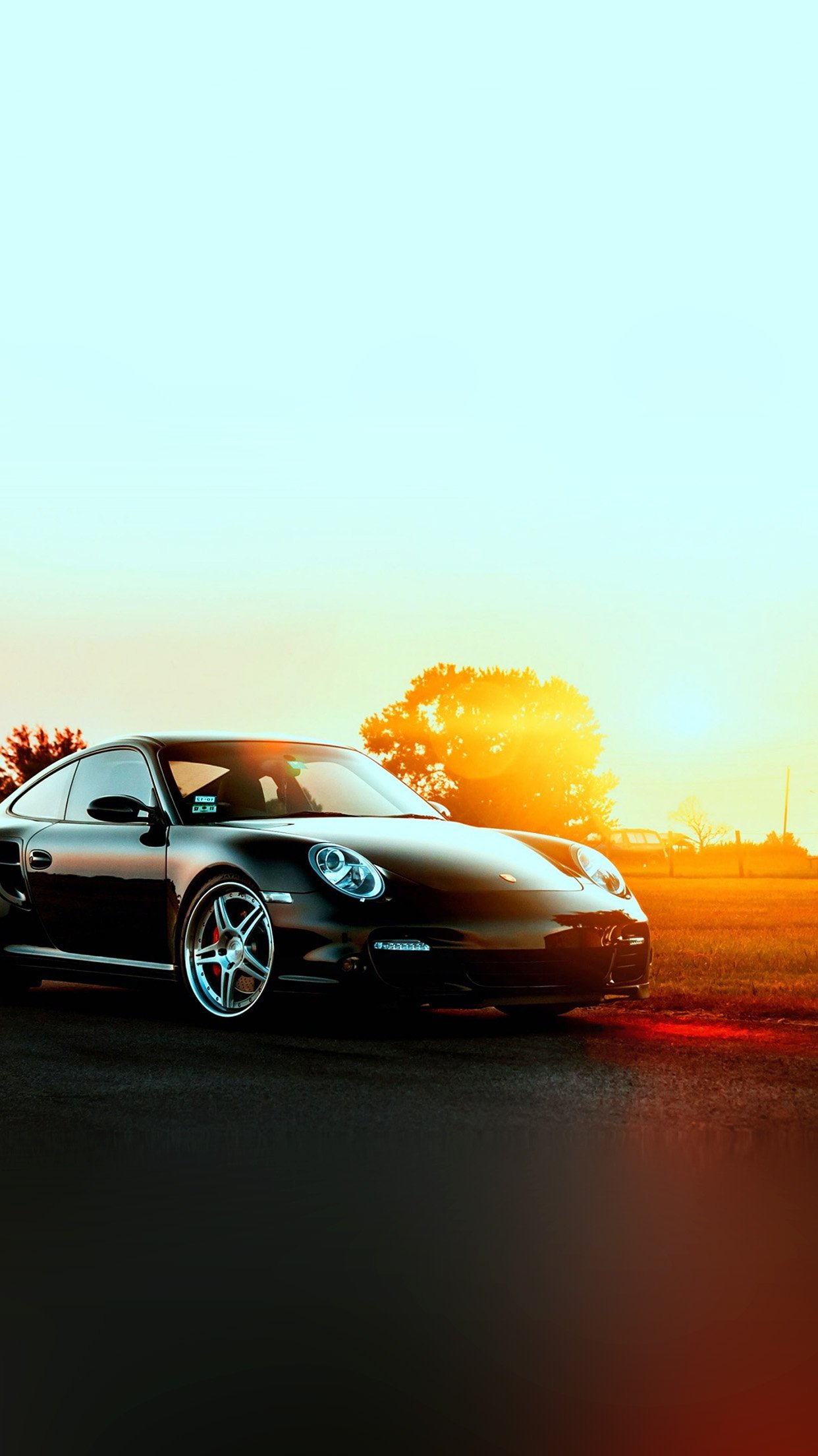 Porche Art Sunset Nature Supercar Android wallpaper   Android HD 1242x2208