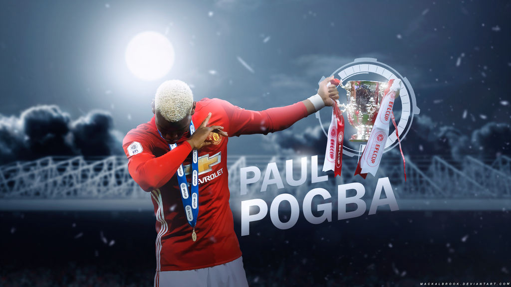 Paul Pogba Manchester United Wallpaper by Mackalbrook 1024x576