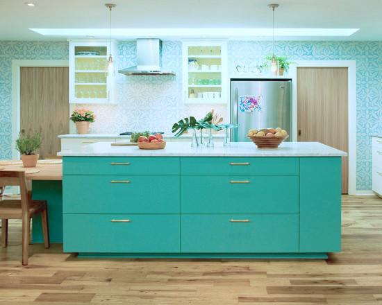 Kitchen Island Turquoise Wallpaper Paint Colors Kitchen Cabinets 550x440