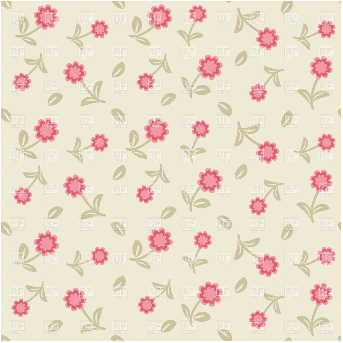 Free Download Cute Pastel Floral Seamless Background 22591