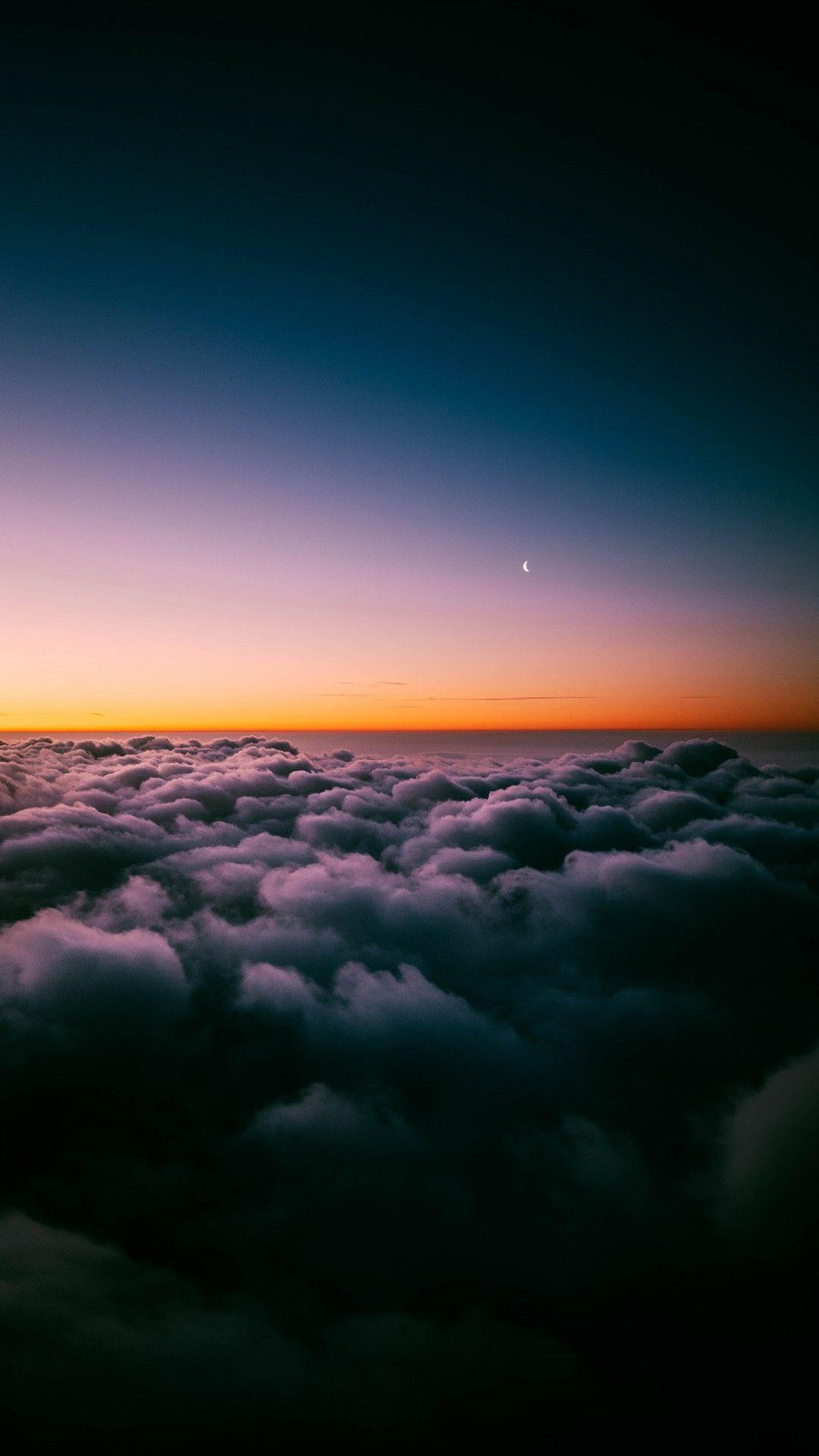 Sunset Horizon Above Clouds Wallpaper[19201080] Cloud wallpaper 1080x1920