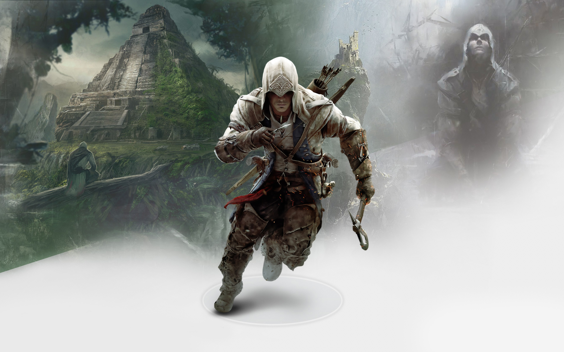 Bad Ass Ac Wallpaper With Altair Ezio Connor Assassin S