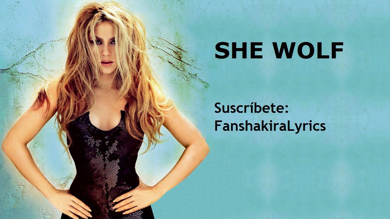 01 Shakira   She Wolf [Lyrics] 1280x720