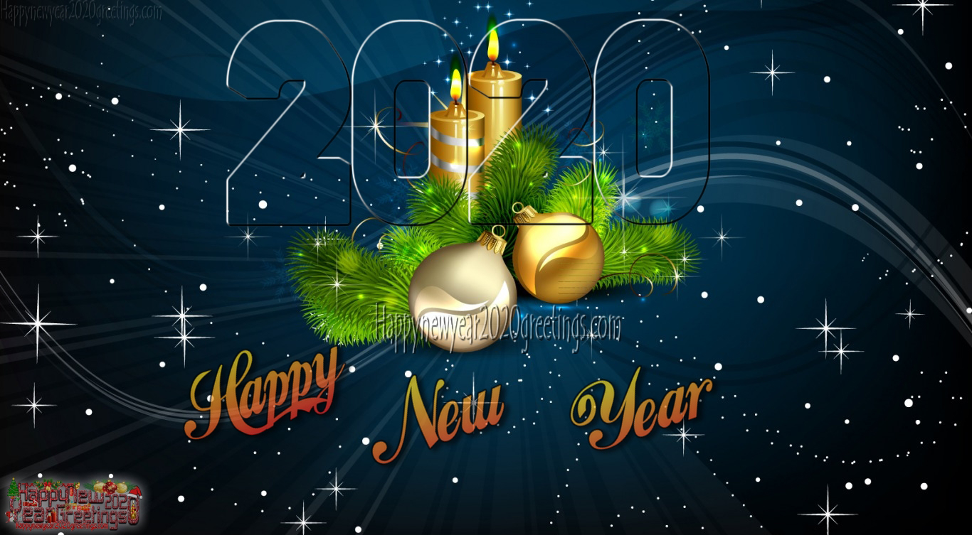 Happy New Year 2020 Colourful HD Wallpapers 4k Download   New 1366x753