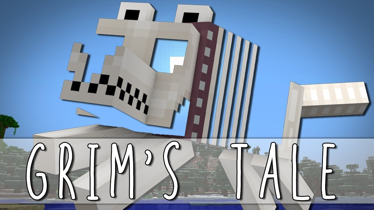 GRIMS TALE How I Met Grim The Skeleton Dog Minecraft 1280x720