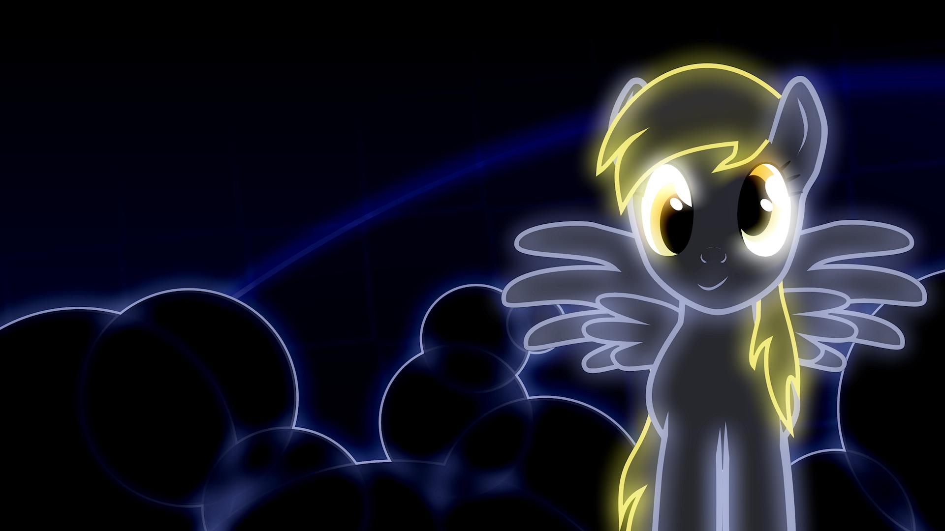 My Little Pony Friendship is Magic Derpy Hooves neon Neon 1920x1080