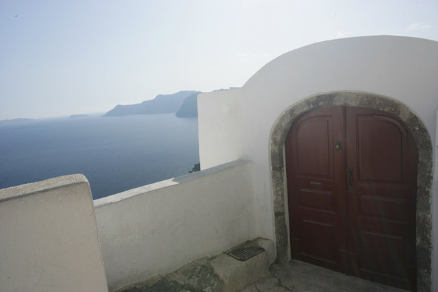 Santorini Doorway Wall Mural   Mediterranean   Wallpaper   by Murals 640x426