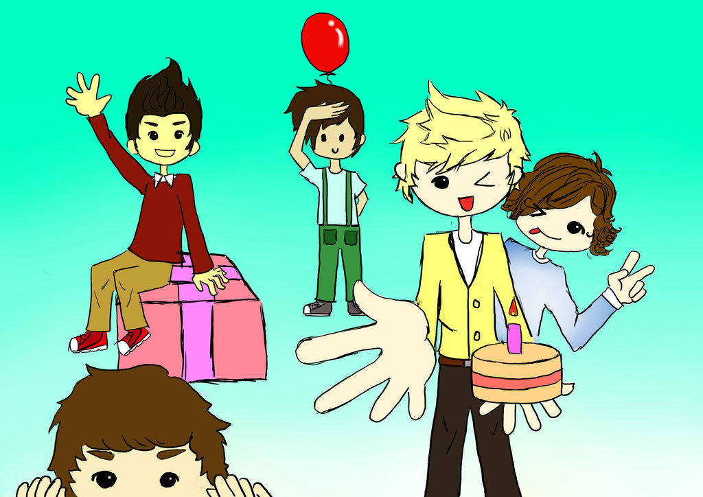 One Direction Cartoon   HD Wallpapers 1024x724