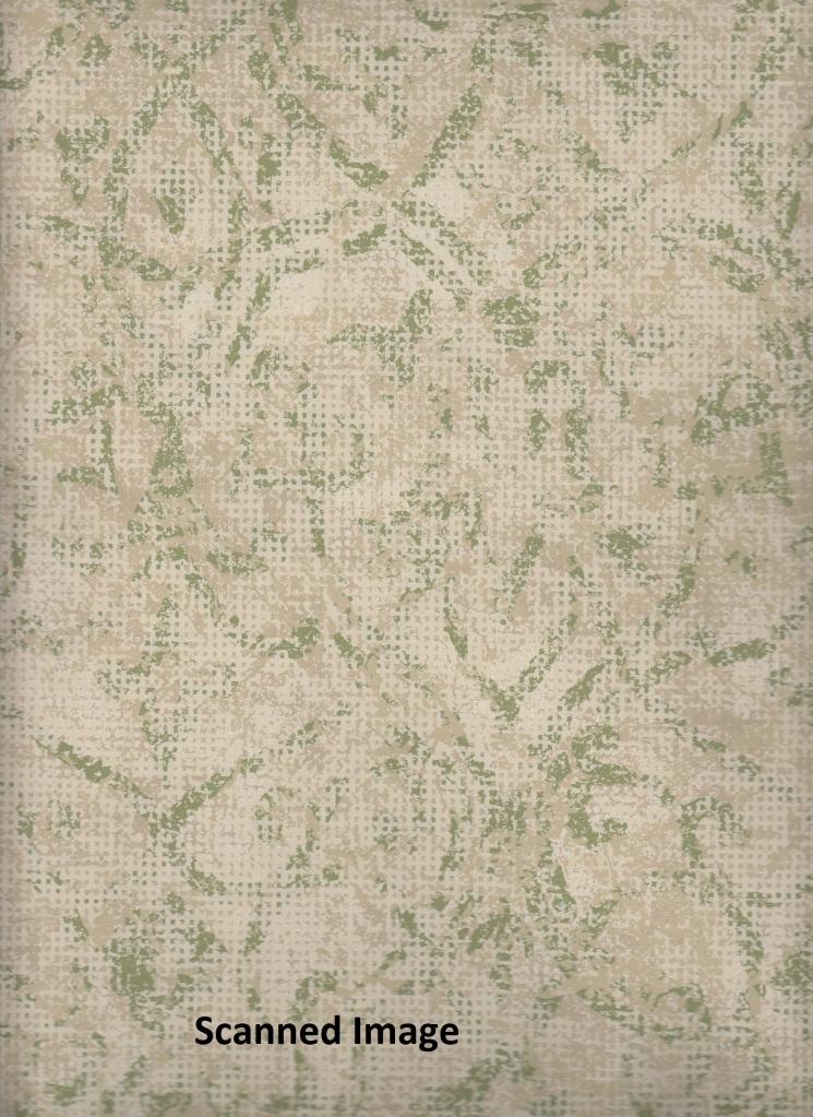 Damask Wallpaper Green Faux Crackle Damask Sidewall Cream Background 745x1023