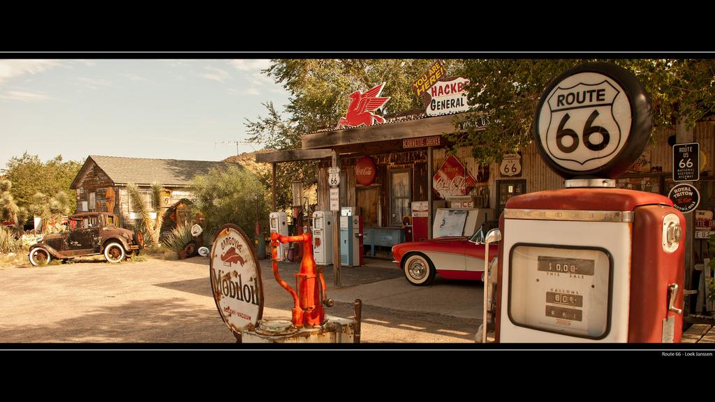 Route 66 Gas Station Wallpaper Desktop Background 2560 x 1440 1024x576