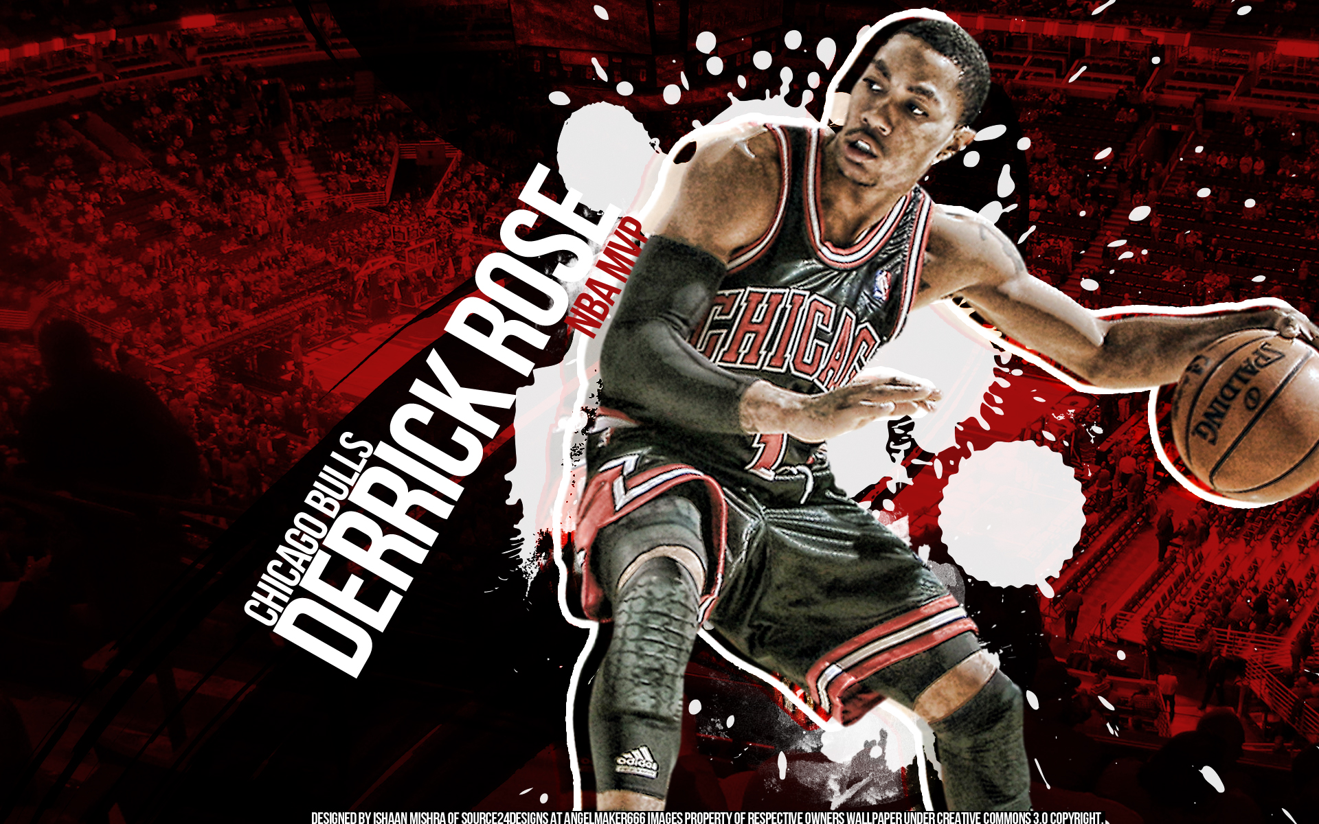 wallpaper hdtv widescreen a wallpaper for derrick rose by ishaan 1920x1200