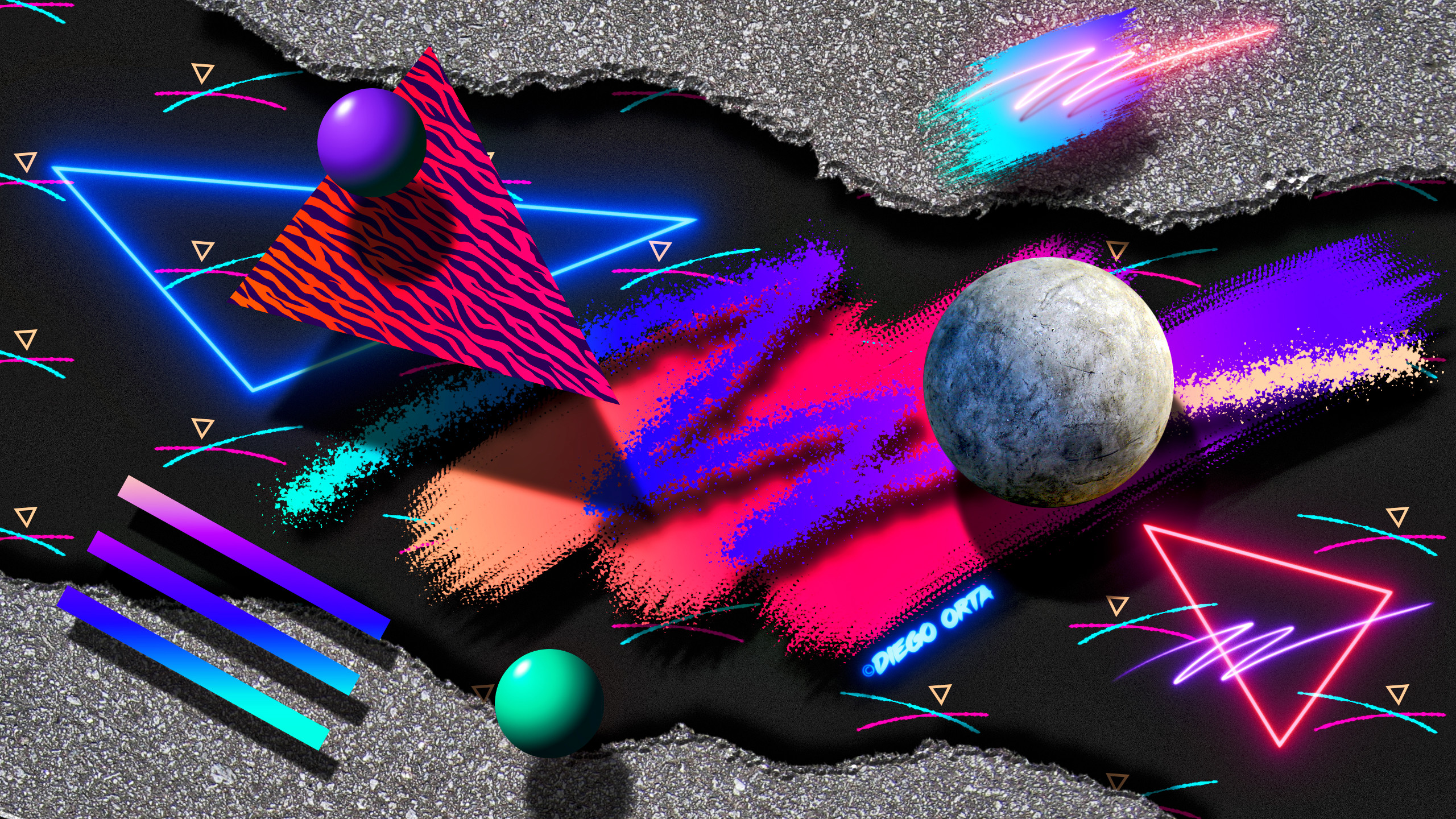 77 Neon 80S Wallpapers on WallpaperPlay 2560x1440