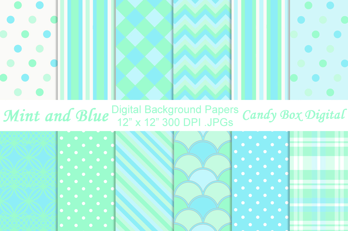 Free Download Mint And Blue Digital Papers Patterns On Creative Market 1160x772 For Your Desktop Mobile Tablet Explore 43 Mint Blue Wallpaper Mint Green Chevron Wallpaper Mint And Gold