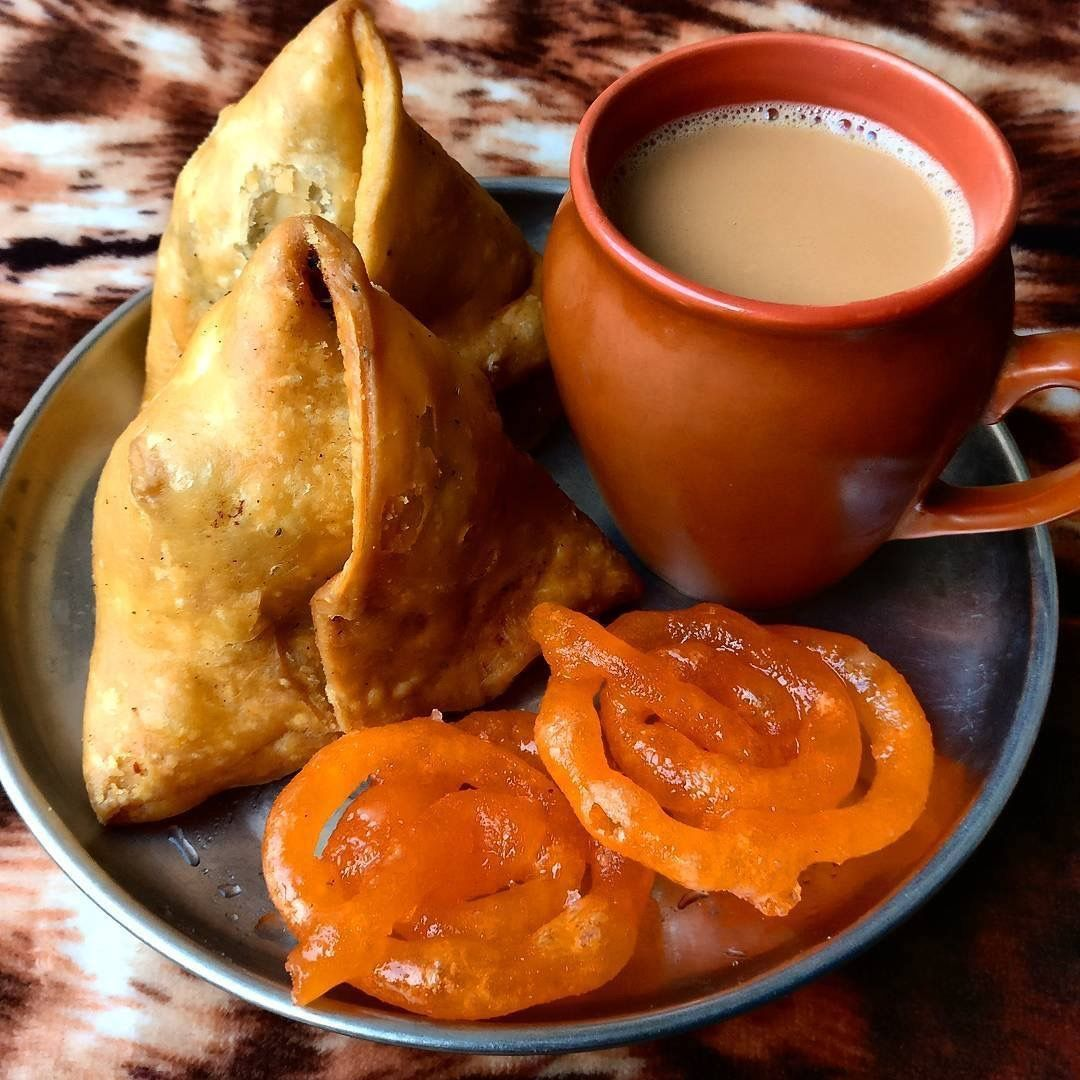 Chai samosa and jalebis Indias homegrown snacks Indian spice 1080x1080