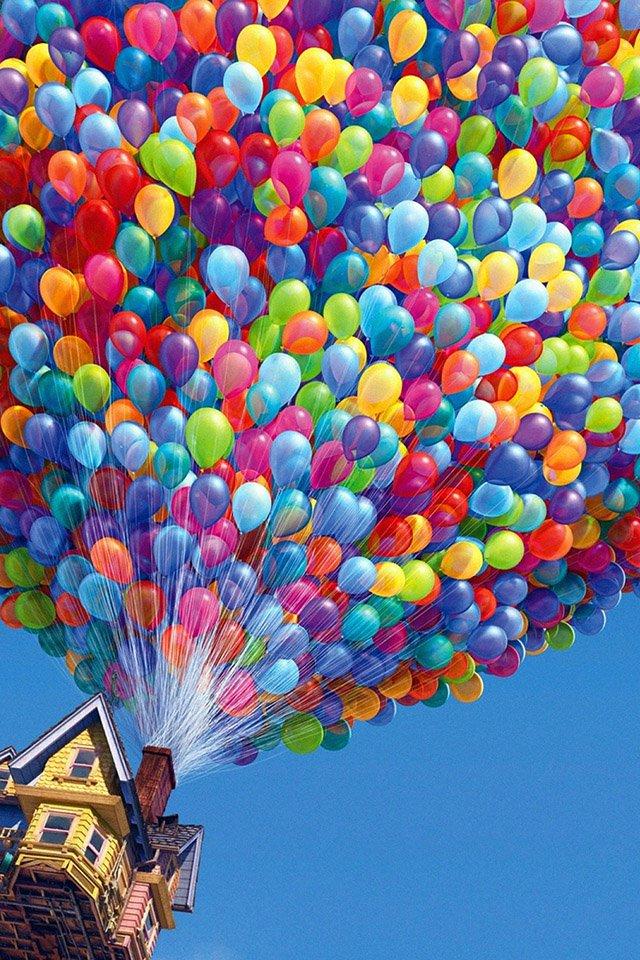 FREEIOS7 up balloons   parallax HD iPhone iPad wallpaper 640x960