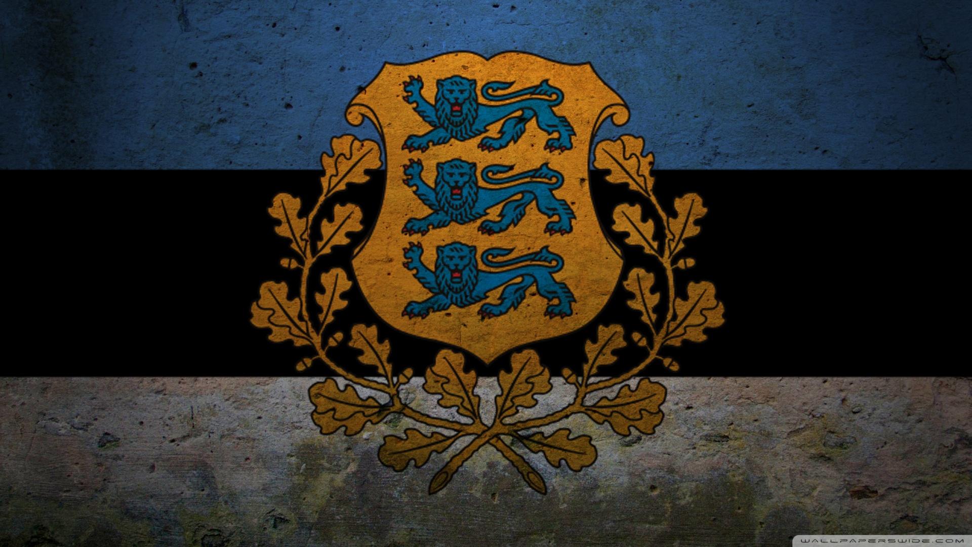 Presidential Flag Of Estonia 4K HD Desktop Wallpaper for 4K 1920x1080