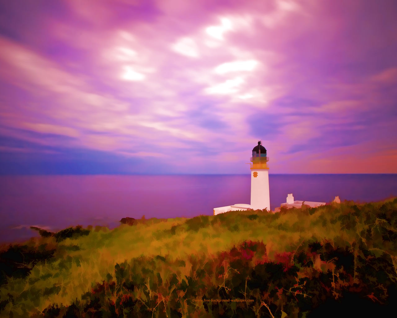 Rua Reidh Lighthouse Scotland Beautiful Desktop Wallpaper   1280x1024 1280x1024