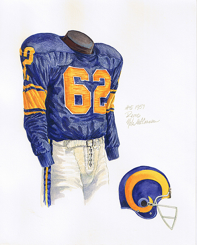 Los Angeles Rams Uniforms for Pinterest 402x500