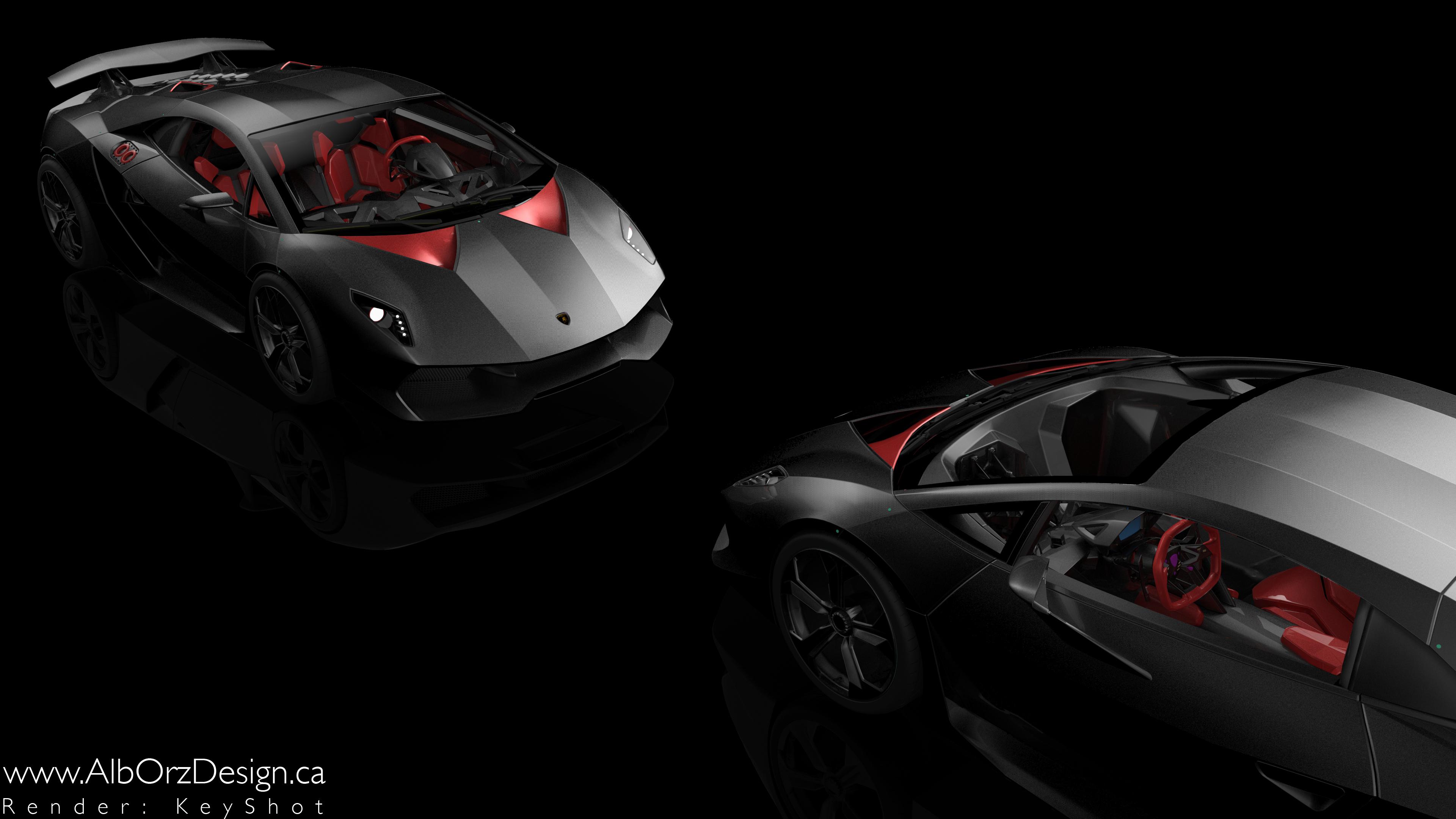 WallpaperUniversitycom 2 Black Lamborghini Sesto 4K Wallpaper 3840x2160